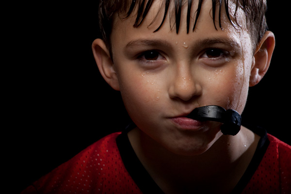 Image of a boy with sports mouthguard